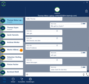 SYfon: Chatfunktion